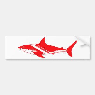 pegatina del tiburón de DiveBuddy.com Pegatina Para Auto