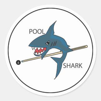 Pegatina del tiburón de la piscina