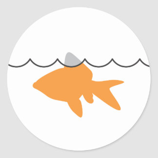 Pegatina del tiburón del Goldfish