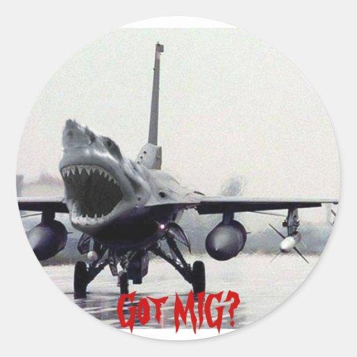 Pegatina del tiburón F-16