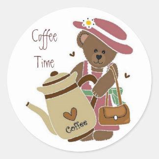 Pegatina del tiempo del café