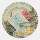 Pegatina del tiempo del té