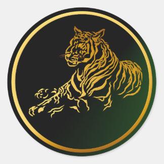Pegatina del tigre del oro