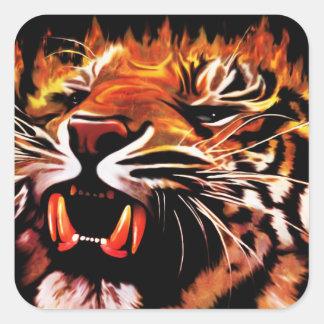 Pegatina del tigre del poder de fuego
