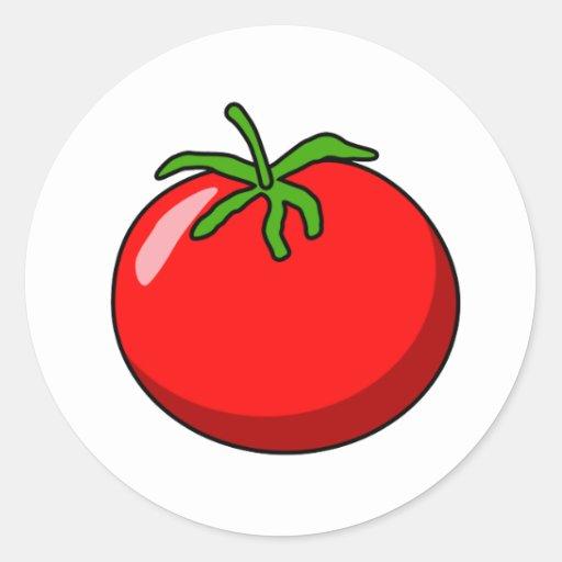 Pegatina del tomate del dibujo animado