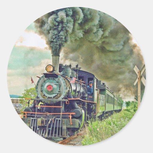 Pegatina del tren de pasajeros del vapor