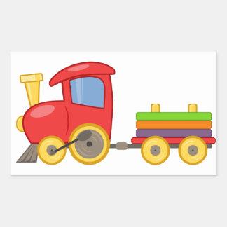 Pegatina del tren del juguete del niño colorido