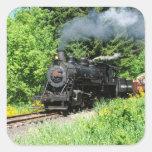 Pegatina del tren del vapor