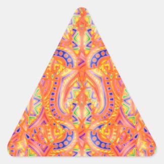 Pegatina del triángulo de Bebopo