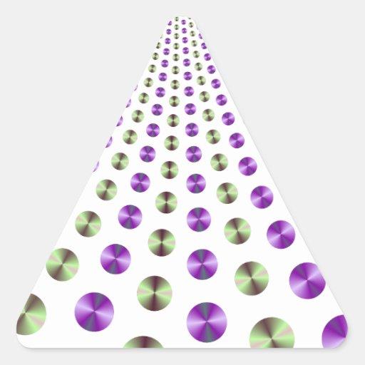 Pegatina del triángulo de la fuente de la bola