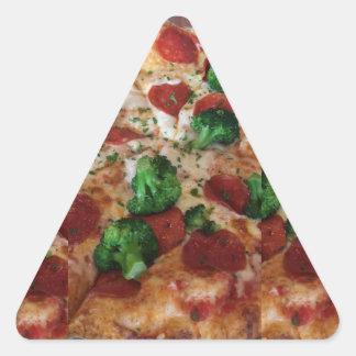 Pegatina del triángulo de la pizza del bróculi