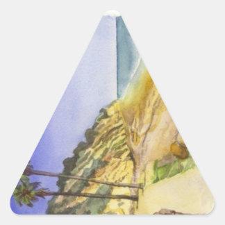 Pegatina del triángulo de la playa de Hendry