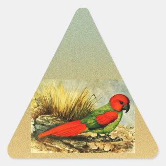 Pegatina del triángulo de Necropsittacus