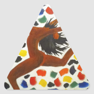 Pegatina del triángulo del bailarín