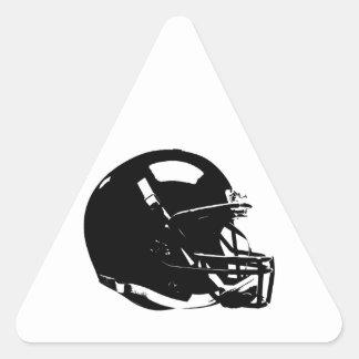 Pegatina del triángulo del casco de fútbol
