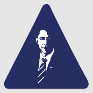 Pegatina del triángulo del esquema de Barack Obama