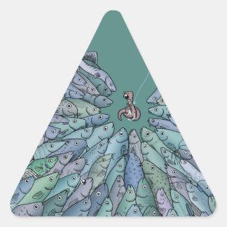 Pegatina del triángulo del frenesí de la
