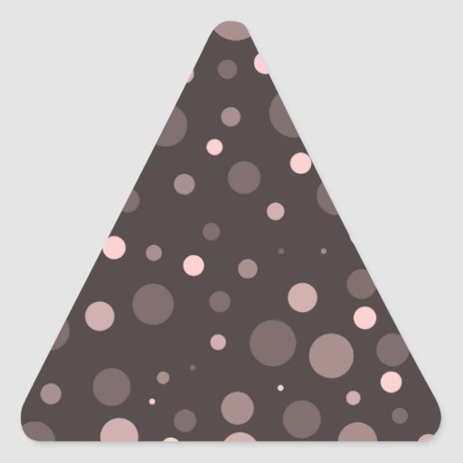 Pegatina del triángulo del lunar de Brown