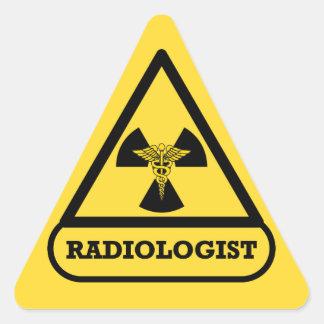 Pegatina del triángulo del radiólogo