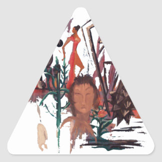 """Pegatina del triángulo del """"tiempo extraño"""""""