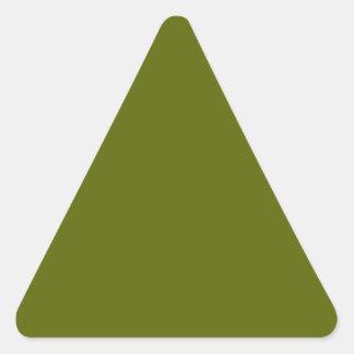 Pegatina del triángulo del verde verde oliva