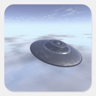 Pegatina del UFO en vuelo