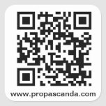 Pegatina del URL del código de QR