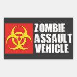 Pegatina del vehículo del asalto del zombi