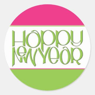 Pegatina del verde de la Feliz Año Nuevo