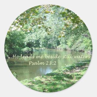 Pegatina del verso de la biblia del salmo 23