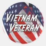 Pegatina del veterano de Vietnam