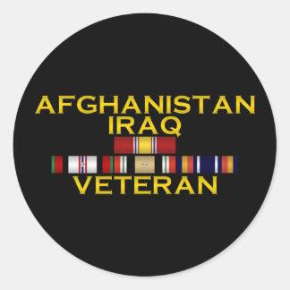 Pegatina del VETERINARIO de Afganistán y de Iraq