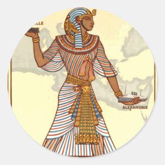Pegatina del viaje de Egipto del vintage