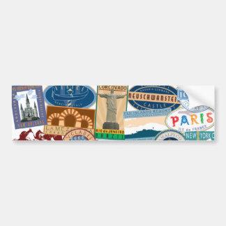 Pegatina del Viajero-Parachoque del mundo Etiqueta De Parachoque