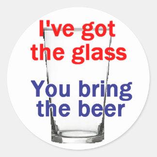 Pegatina del vidrio de cerveza