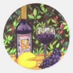 Pegatina del vino y del queso