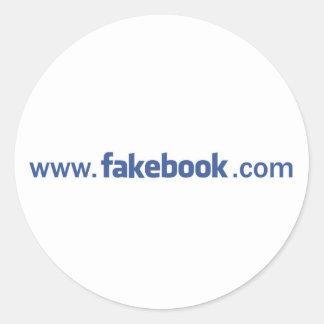 pegatina del Web site del fakebook
