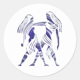 Pegatina del zodiaco de los géminis