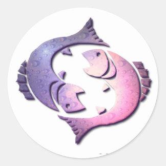 Pegatina del zodiaco de Piscis