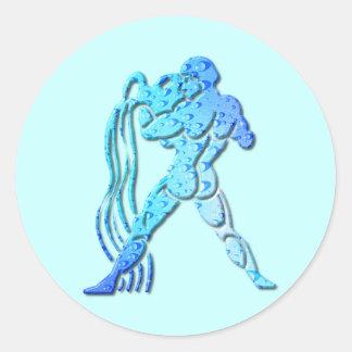 Pegatina del zodiaco del acuario