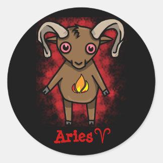 ¡Pegatina del zodiaco del aries!