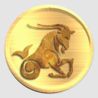Pegatina del zodiaco del Capricornio