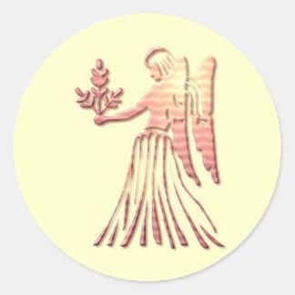 Pegatina del zodiaco del virgo