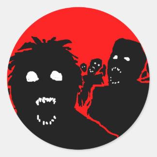 """Pegatina del zombi """"de la horda"""""""