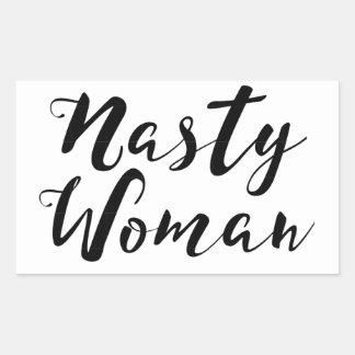 Pegatina desagradable de la mujer