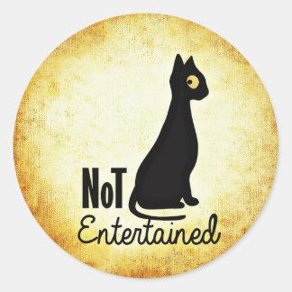 Pegatina descarado no entretenido del gato negro