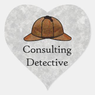 Pegatina detective asesor del corazón