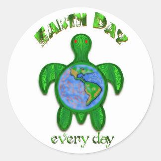 Pegatina diario del Día de la Tierra