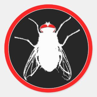 Pegatina difícil de las producciones de la mosca