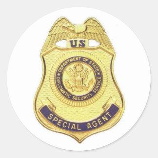 Pegatina diplomático de la seguridad (fondo